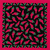 Cinco de Mayo Party Wear Black and Red Chili Peppers Bandana Image