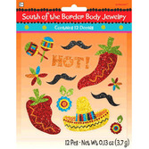 Cinco de Mayo Favors & Prizes Glittered Fiesta Stickers Image