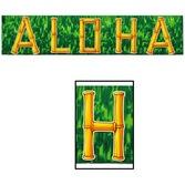 Luau Decorations Aloha Banner Image