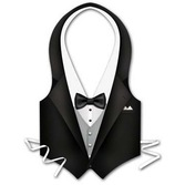 Awards Night & Hollywood Party Wear Plastic Tuxedo Vest Image