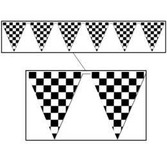 Sports Decorations Checkered Flag Pennant Banner Image