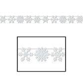 Christmas Decorations Glittered Snowflake Streamer Image