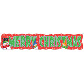 """Christmas Decorations Snowman """"Merry Christmas"""" Giant Banner Image"""
