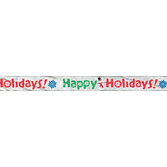 Christmas Decorations Happy Holidays Foil Banner Image