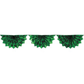 Christmas Decorations Green Foil Bunting Garland Image