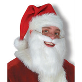 Christmas Party Wear Santa Hat with Beard Image