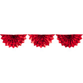 Christmas Decorations Red Foil Bunting Garland Image