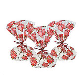 Christmas Gift Bags & Paper Poinsettia Cellophane Bags Image