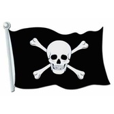 "Pirates Decorations 18"" Pirate Flag Cutout Image"