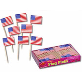 4th of July Table Accessories US Flag Picks Image