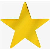 """New Years Decorations 5"""" Gold Foil Star Image"""