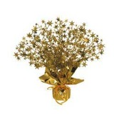 New Years Decorations Gold Starburst Centerpiece Image