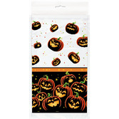 Halloween Table Accessories Pumpkin Grin Tablecover Image