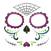 Day of the Dead Favors & Prizes Sugar Skull Face Tattoos Image