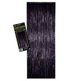 New Years Decorations Black Metallic Fringe Curtain Image