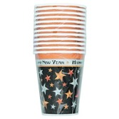 New Years Table Accessories New Year Stars 9oz Cups Image