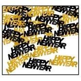 New Years Decorations Black and Gold Happy New Year Confetti Image