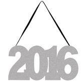 New Years Decorations 2016 Glittered Sign Image