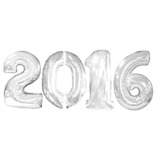 New Years Balloons Silver Jumbo 2016 Mylar Balloons Image