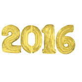 New Years Balloons Gold 2016 Jumbo Mylar Balloons Image