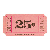 Tickets & Wristbands Pink 25 Cent Ticket Roll Image