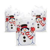 Christmas Gift Bags & Paper Plastic Snowman Bags Image