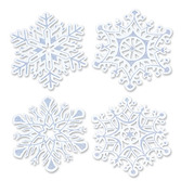 Christmas Decorations Glittered Snowflake Cutouts Image