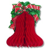 Christmas Decorations Tissue Christmas Bell with Bow Image