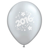 New Years Balloons Silver Happy 2016 Balloons Image
