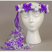 Cinco de Mayo Hats & Headwear Purple and White Flower Crown Image