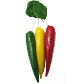 Cinco de Mayo Decorations Tri Color Chili Pepper Pin Image