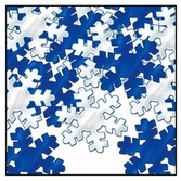 Christmas Decorations Blue & Silver Snowflake Confetti Image