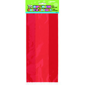 Valentine's Day Gift Bags & Paper Ruby Red Cello Bags Image