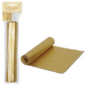 New Years Table Accessories Gold Lamé Table Runner Image