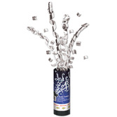 New Years Decorations Silver Confetti Burst Image