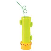 Cinco de Mayo Favors & Prizes Jumbo Cactus Glass with Straw Image