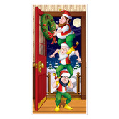 Christmas Decorations Christmas Elves Door Cover Image