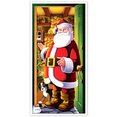 Christmas Decorations Santa Door Cover Image