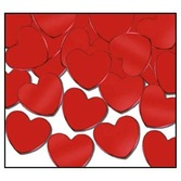 Valentine's Day Decorations Red Hearts Confetti Image