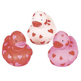 Valentine's Day Favors & Prizes Mini Valentine Rubber Duckies Image