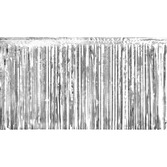 New Years Decorations Silver Metallic Fringe Drape Image