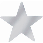 """New Years Decorations 9"""" Silver Foil Star Image"""