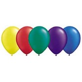 "New Years Balloons 11"" Assorted Deep Pearl Balloons Image"