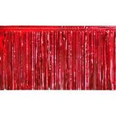 Christmas Decorations Red Metallic Fringe Drape Image