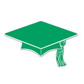 Graduation Decorations Green Mini Graduation Cap Cutouts Image