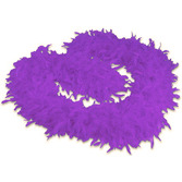 Mardi Gras Party Wear Purple Feathered Boa Image