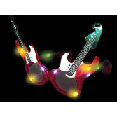 Awards Night & Hollywood Glow Lights Flashing Guitar Sunglasses Image