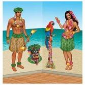 Luau Decorations Hula Girl and Guy Props Image
