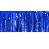 4th of July Table Accessories Blue Metallic Fringe Table Skirt Image