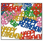 Retirement Decorations Happy Retirement Confetti Image